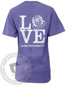 Panhellenic Love Crest Pocket T-Shirt by Adam Block Design