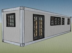 Small Scale Homes: 8x40 Shipping Container Home Design