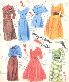 Debbie Reynolds Cut-Out Dolls, #1178 Whitman 1953 (7 of 10)
