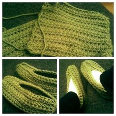Easiest crocheted slippers ever.