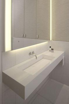 Jasna łazienka z nowoczesną armaturą - Architektura, wnętrza, technologia, design - HomeSquare