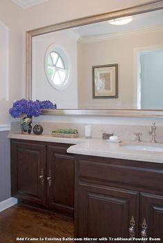 Add Frame To Existing Bathroom Mirror