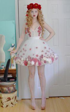 diaphanous flower dress