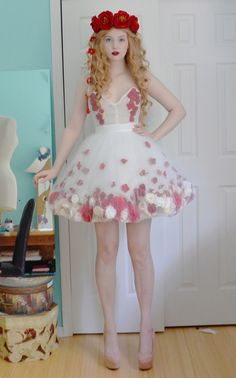 diaphanous flower dress