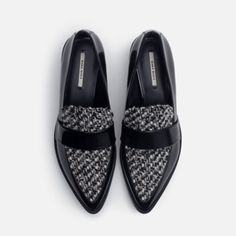 Zara shoes New with tag. Upper: 75% Polyurethane 21% Polyester 4% Wool Lining: 70% Polyurethane 30% Polyester Sole: 100% Polyurethane Thermoplastic EUR 38 US 7.5 Fits size 7.5 to 8 Zara Shoes