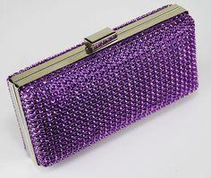Gucci Lady Lock Black Evening Bag Swarovski Silver New Authentic Purple Handbags, Purple Purse, Purple Bags, Purses And Handbags, Purple Love, All Things Purple, Shades Of Purple, Deep Purple, Purple Stuff