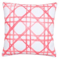 Check out this item at One Kings Lane! Thatch 20x20 Cotton Pillow, Coral