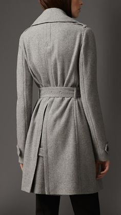 Cashmere Belted Wrap Coat   Burberry