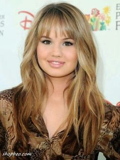 Ombre Long Hair with Short Bangs - Long Hairstyles for Round Face Shape