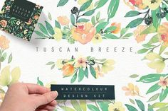 Tuscan Breeze Watercolour Design Kit by Lisa Glanz on @creativemarket