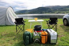 Happy camping at Neset Camping by Byglandsfjorden in Setesdal near Evje.    Book at http://www.neset.no/ Photo: Inge Dalen©Visit Southern Norway
