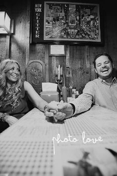 Engagement Photography at the restaurant we first met