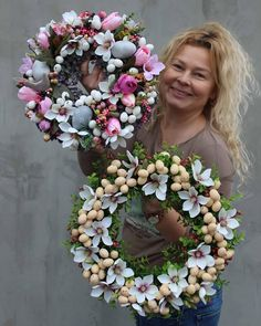 1 million+ Stunning Free Images to Use Anywhere Easter Wreaths, Holiday Wreaths, Deco Wreaths, Free To Use Images, Easter Flowers, Wreath Crafts, Summer Wreath, Easter Crafts, Flower Decorations