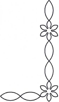 Quilt Stencil Starflower Chain Border & Corner By Estes, Laura - Starflower Chain Border & Corner continuous line stencil. Stencil is made of Mylar plastic with the displayed design cut into it. Quilting Stitch Patterns, Hand Quilting Designs, Quilting Stencils, Quilting Templates, Quilt Stitching, Longarm Quilting, Applique Patterns, Free Motion Quilting, Machine Quilting