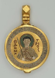 Reliquary of St. Enamel on gold. Byzantine Gold, Byzantine Jewelry, Renaissance Jewelry, Medieval Jewelry, Ancient Jewelry, Antique Jewelry, Medieval Art, Early Christian, Christian Art