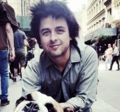 Billie Joe Armstrong and a DOGGIE