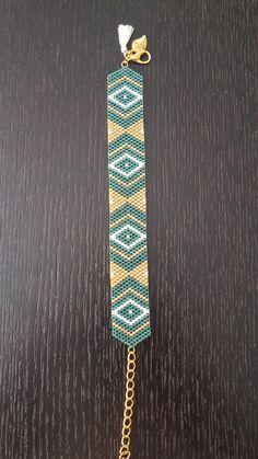 Bracelet Perles Miyuki - Tissage peyote