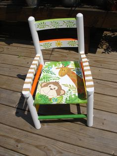 hand painted child's chair