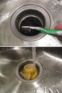 37 Deep Cleaning Tips Every Obsessive Clean Freak Should Know Clean your sink drain.