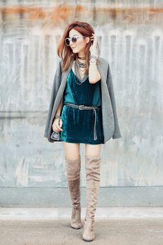 Já pensou em criar looks super legais usando vestido no inverno? O item que já foi exclusivo de verão, também pode compor looks quentinhos tranquilamente!