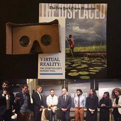 """An awesome Virtual Reality pic! Tonight I got to be a small part of history and experience the touching and heartbreaking story of Oleg Hana and Chuol 3 of the 30 million children who are refugees in the first #VR film from the #NewYorkTimes @tmagazine: The Displaced"""". In the November 7 issue coming this Sunday the #NYTmagazine is going to deliver 1 million Google cardboard sets marking the largest most accessible mainstream push of virtual reality which was described tonight as a watershed…"""