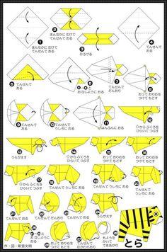 origami tutorial tiger