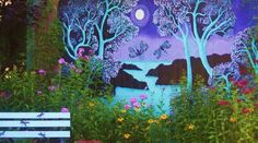 Mural painted on side of shed