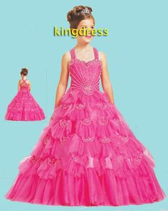 cute clothes for girls 7-16 | ... cute sell red Flower Girls Dresses/dancing party/ wedding/ Evening