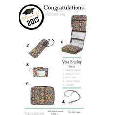 Vera Bradley Graduation Gifts Sierra Stream! Come on in to Coastal Living and make sure your Grad is reading for Dorm Living!