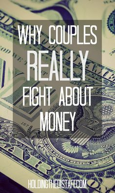 Why Couples REALLY Fight About Money: It's not just because you can't budget. Learn 5 core reasons why finances lead to conflict in marriage.