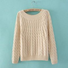 Winter sweater wool o-neck pullover fashion pullover Beige pullover