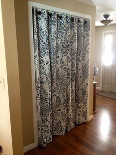No More Pinch Y Sliding Closet Doors! Hello, Pretty Curtains!