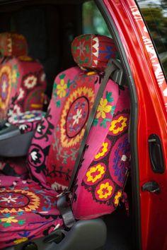 Wheels: Designer Michelle Nussbaumer's ikat-print pickup truck | Dallas Morning…