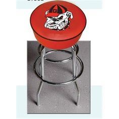 University of Georgia Bulldogs UGA Bar Stool Swivel Garage Seat