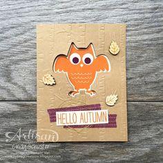 Owl-o-ween Cards - Stampin' UP Artisan Blog Hop
