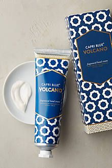 Capri Blue Volcano Hand Cream by in Size: All, Bath & Body at Anthropologie - Packaging - Pflege Cosmetic Packaging, Beauty Packaging, Packaging Design, Branding Design, Skincare Packaging, Food Packaging, Packaging Inspiration, Gel Nails, Manicure