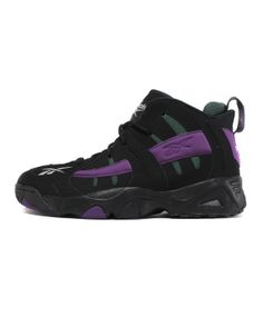 wholesale dealer 650b4 fcf56 Reebok The Rail Mens Bucks Black Purple Green Basketball Shoes Size 11