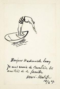 Bonjour Mademoiselle Levy, 1909 - Henri Matisse, in 2020 Matisse Tattoo, Matisse Drawing, Matisse Art, Henri Matisse, Picasso Paintings, Art Inspo, Line Art, Design Art, Modern Art