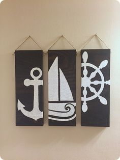 Nautical Stencil Wood Decor