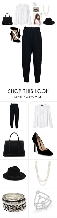 """""""MIestilo0896"""" by paolaalbo ❤ liked on Polyvore featuring Belstaff, Banana Republic, La Perla, Gianvito Rossi, Saks Fifth Avenue, Bloomingdale's and Charlotte Russe"""
