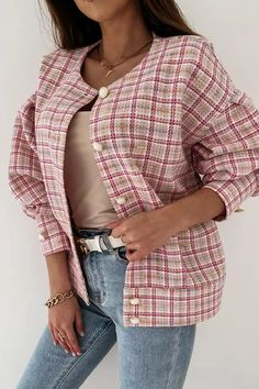 Ripped Shorts, Denim Romper, Plaid Jacket, Flare Pants, Single Breasted, Jackets For Women, Rompers, Coat, Romper