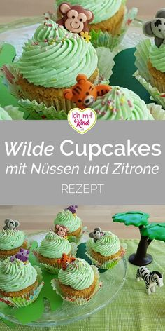 Wild and One - Wilde Cupcakes mit Nüssen und Zitrone for wild cupcakes with nuts and l Cupcake Birthday Cake, Baby Birthday, First Birthday Parties, First Birthdays, House Party, Cake Simple, Baking Cupcakes, Lemon Cupcakes, Baking With Kids