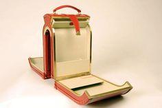 Williams British Handmade bespoke luggage (open)