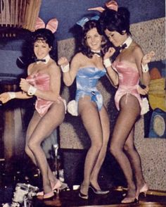 Vintage Photo of Playboy Bunnies Dancing