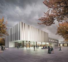 Campus Bildungszentrum Handwerk Dresden, Wettbewerb, Glass Kramer Löbbert Architekten