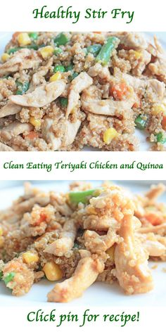 Healthy Stir Fry and Easy Healthy Recipe: Clean Eating Quinoa and Chicken Stir Fry