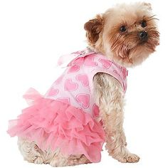 Petco Smoochie Pooch Pink Heart Dog Dress