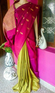 Indian Dresses, Indian Outfits, Wedding Silk Saree, Indian Silk Sarees, Saree Dress, Dress Designs, Saris, Draping, Color Inspiration