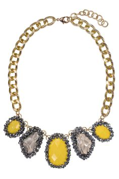 """Yellow Glitz Collar 