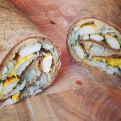tortilla med kylling og hummus